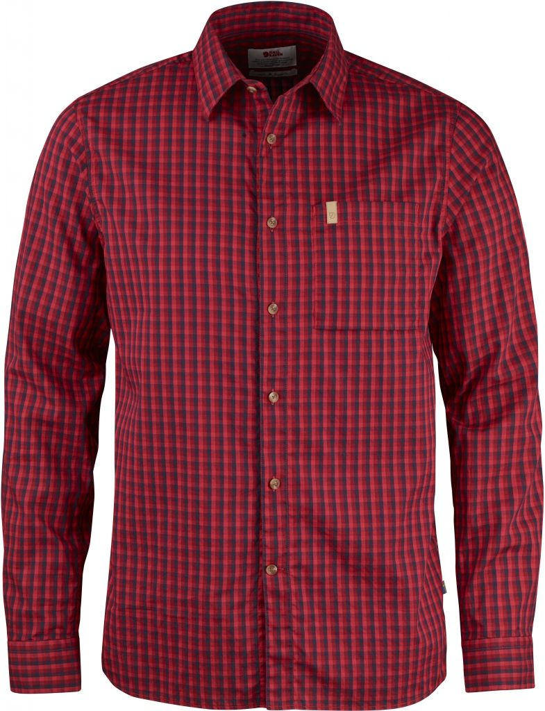 FjallRaven Kiruna Shirt LS Deep Red-30