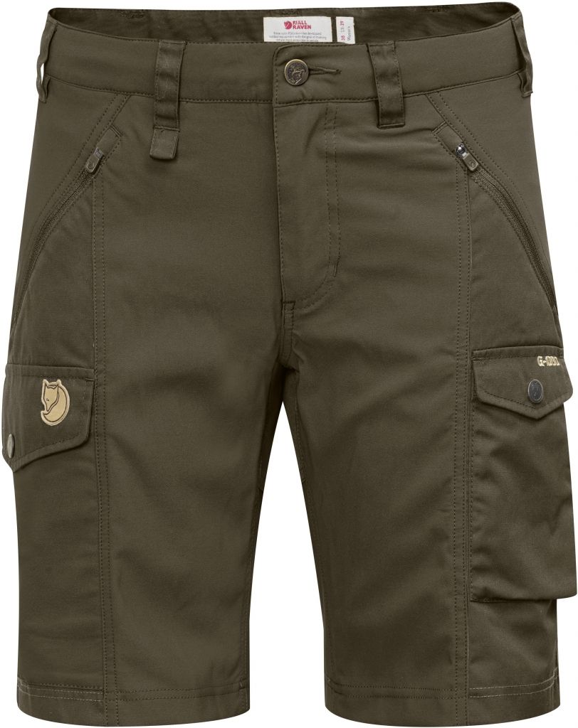 FjallRaven Nikka Shorts Curved Dark Olive-30