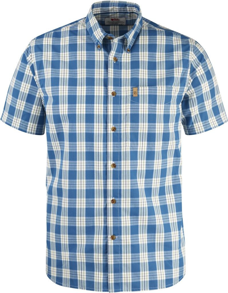 FjallRaven Övik Button Down Shirt SS Lake Blue-30