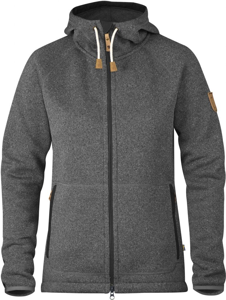 FjallRaven Övik Fleece Hoodie W Dark Grey-30
