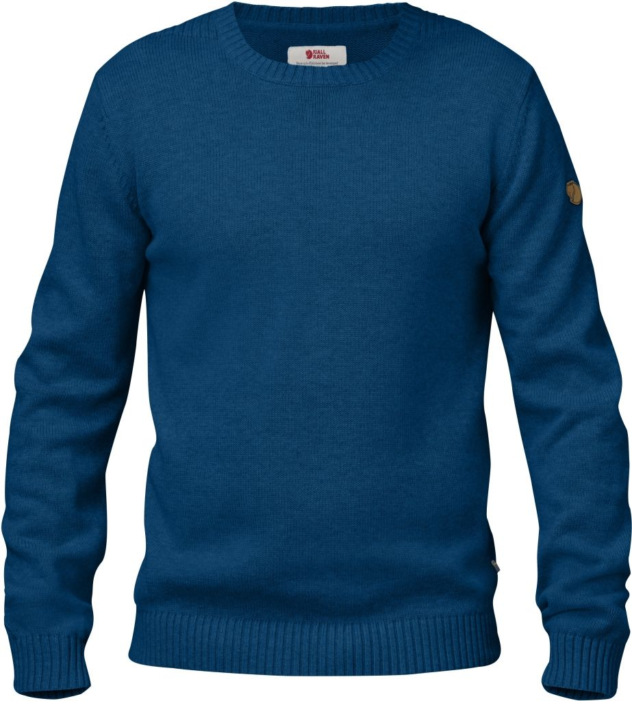 FjallRaven Övik Knit Crew Lake Blue-30