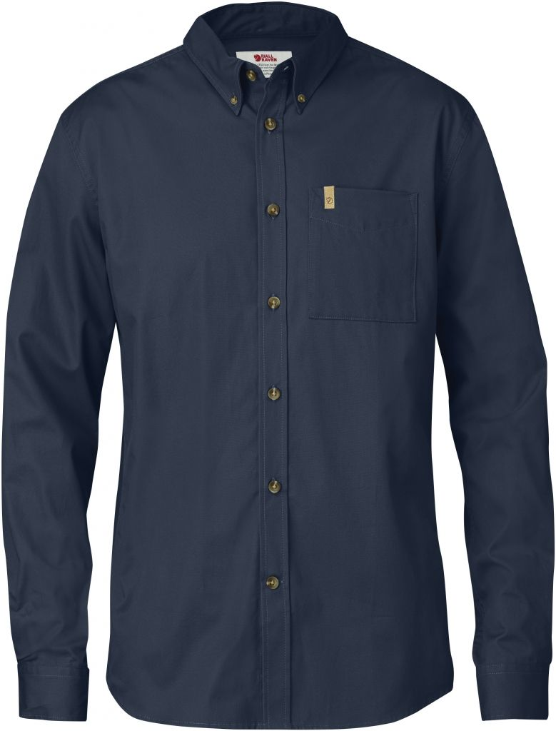 FjallRaven Övik Solid Twill Shirt LS Dark Navy-30