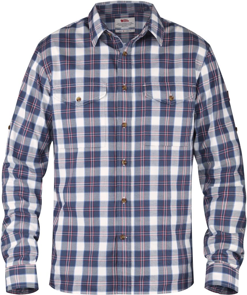 FjallRaven Sarek Flannel Shirt LS Uncle Blue-30