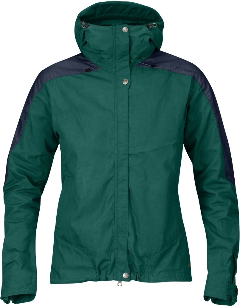 FjallRaven Skogsö Jacket Women Copper Green-Dark Navy-30