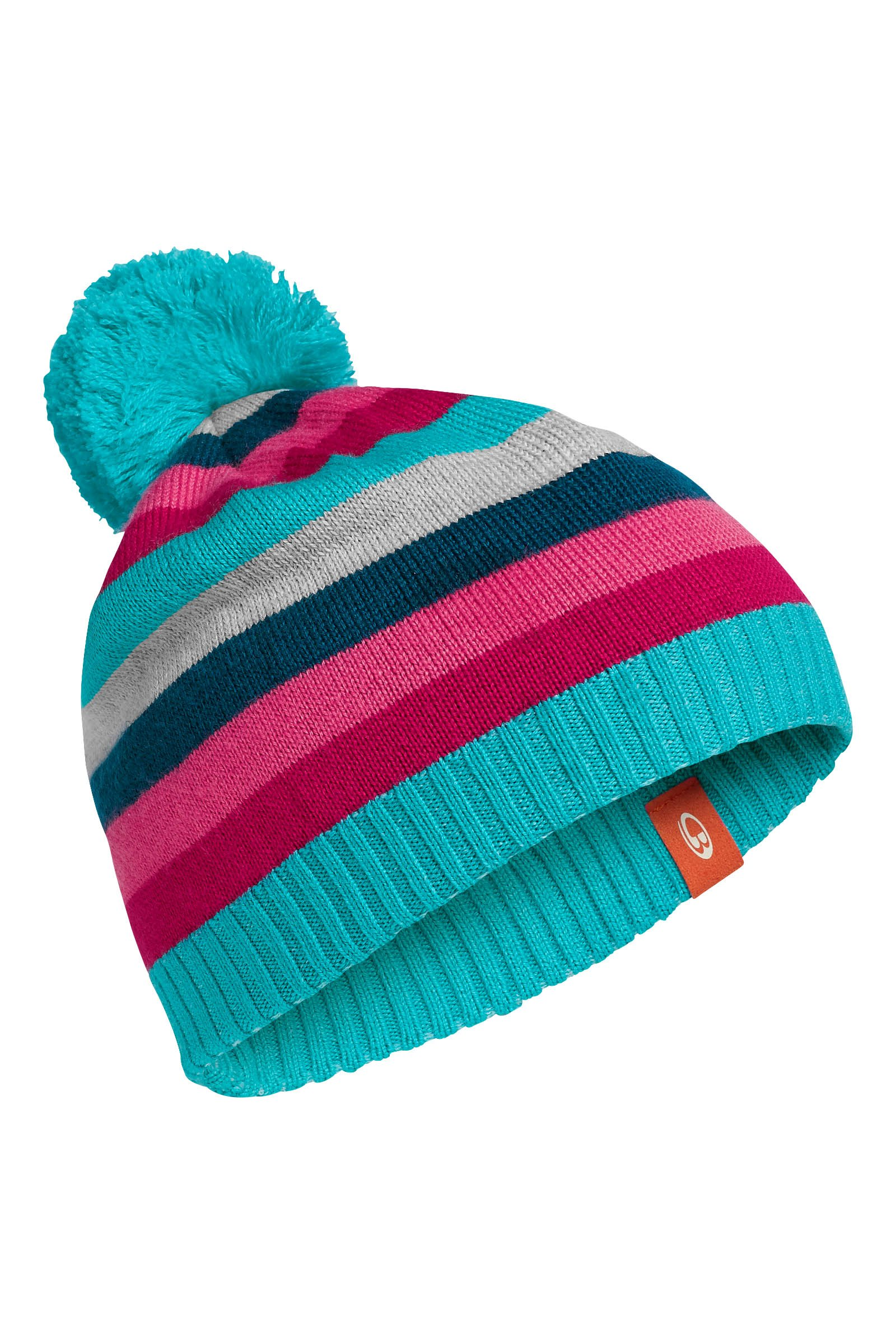Icebreaker Orbit Hat Aquamarine/Raspberry/Night-30