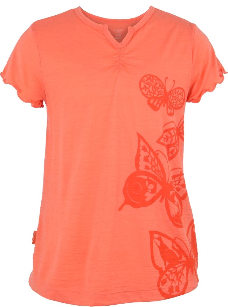 Icebreaker Moxie Short Sleeve T Butterflies Ambrosia-30