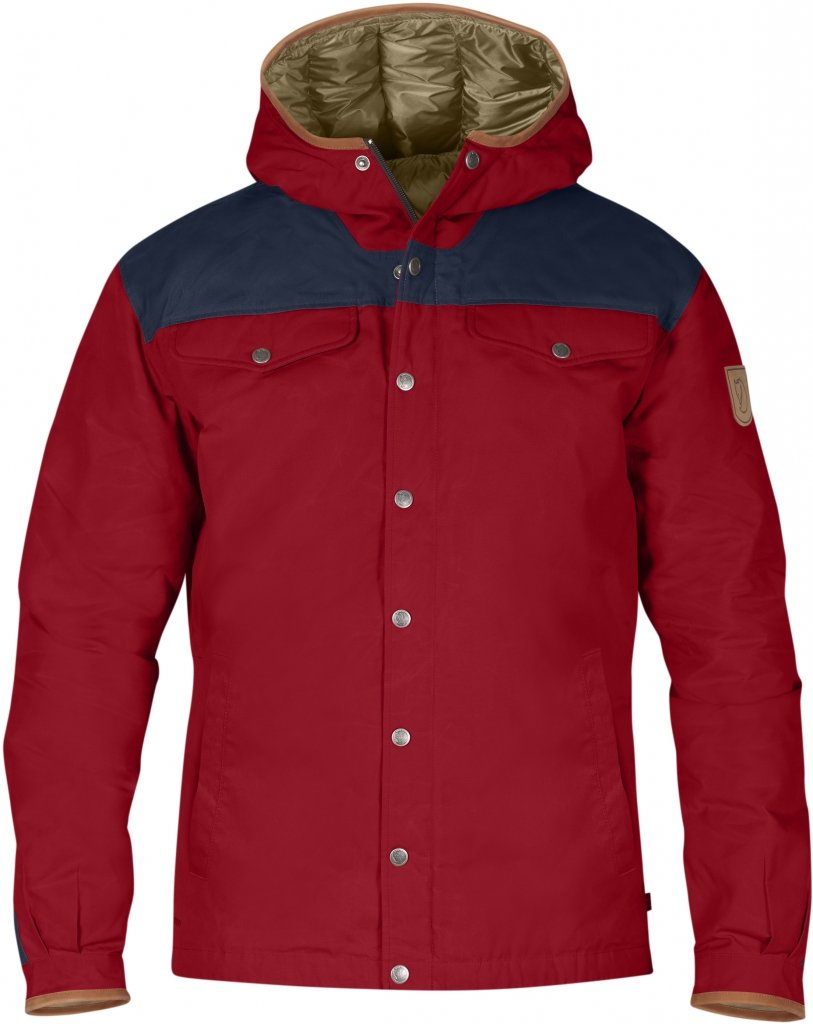 FjallRaven Greenland No.1 Down Jacket Deep Red-Dark Navy-30