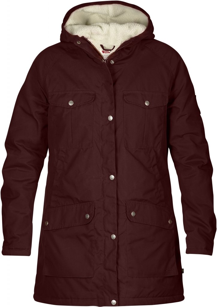 FjallRaven Greenland Winter Parka W Burnt Red-30