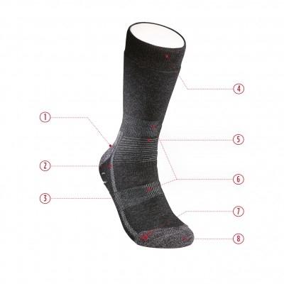 Hanwag Socke Alpin anthracite-30