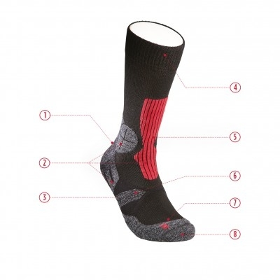 Hanwag Socke Trek rubin_bright red-30