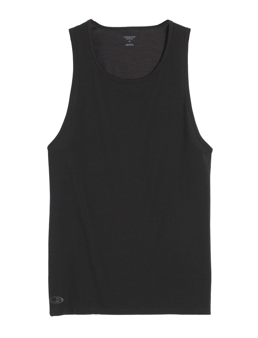 Icebreaker Mens Anatomica Tank Black/Monsoon-30