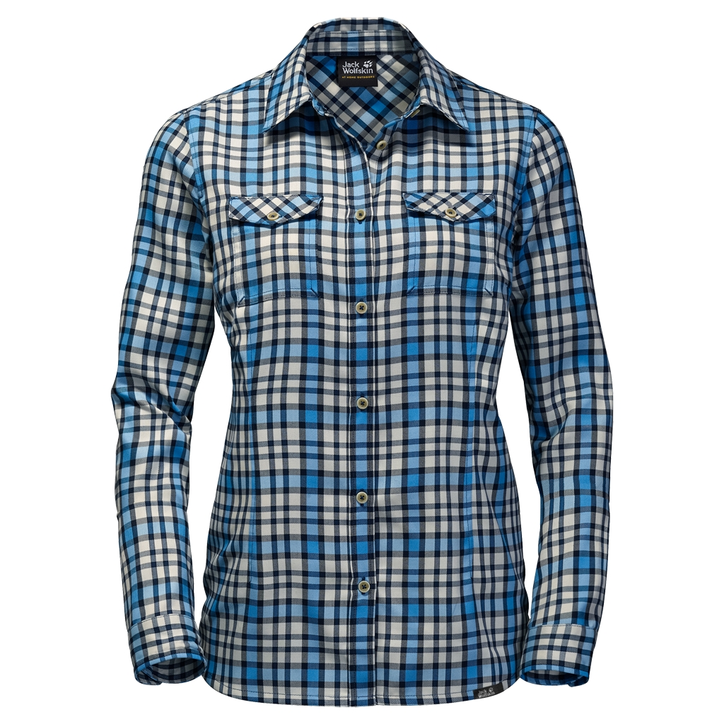 Jack Wolfskin Evan Shirt Women light sky checks-30