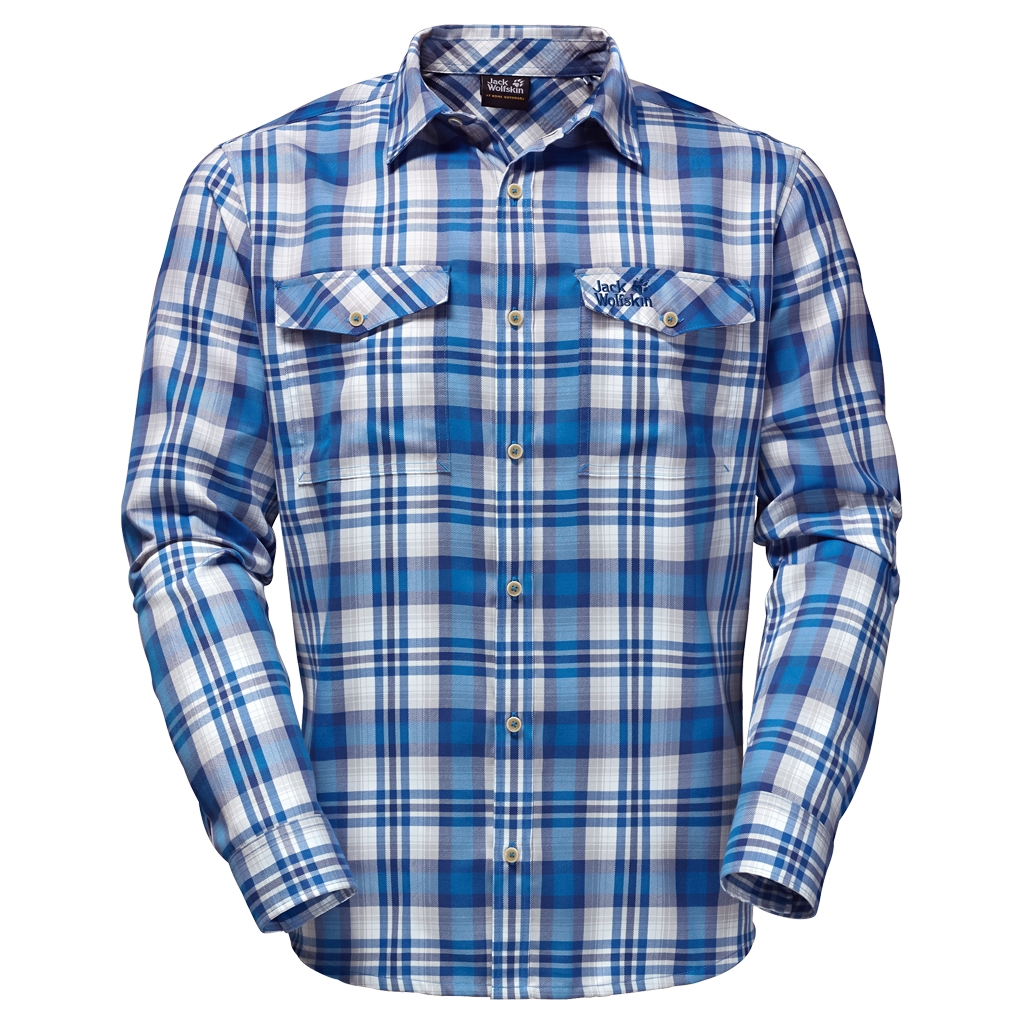 Jack Wolfskin Evan Shirt Men brilliant blue checks-30