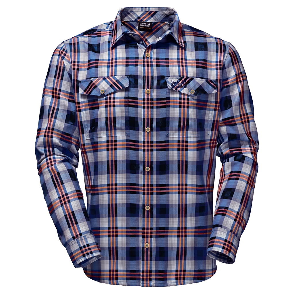 Jack Wolfskin Evan Shirt Men night blue checks-30