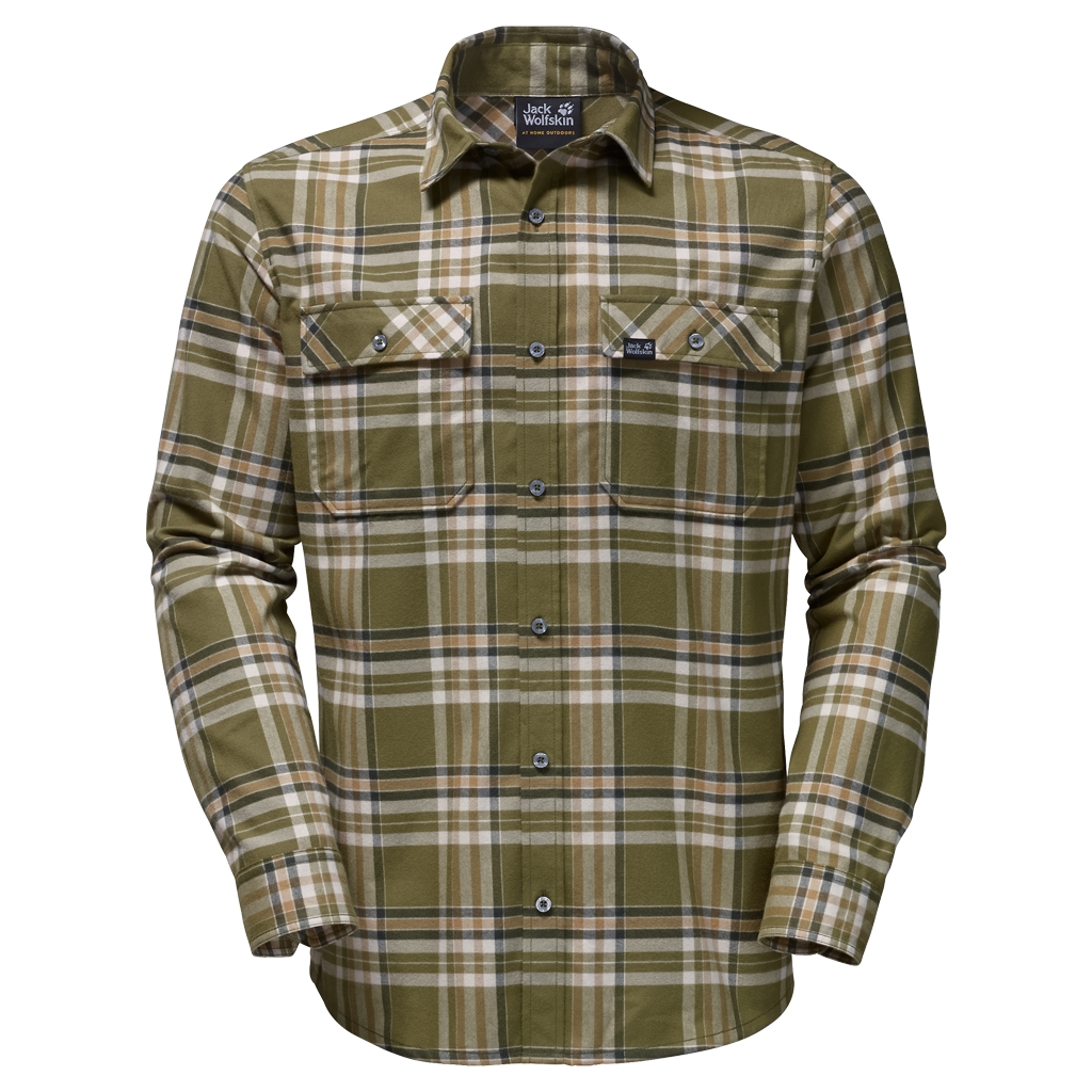 Jack Wolfskin Valley Shirt Men burnt olive checks-30