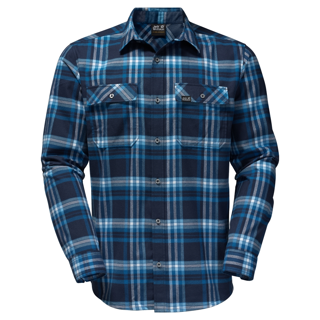 Jack Wolfskin Valley Shirt Men night blue checks-30