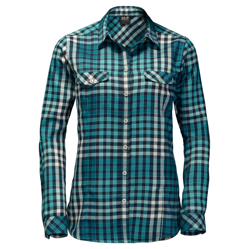 Jack Wolfskin Valley Shirt Women spearmint checks-30