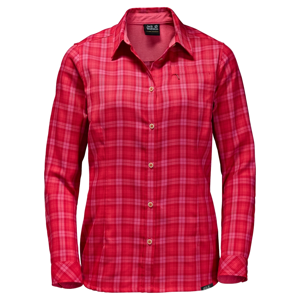 Jack Wolfskin Dorset Shirt hibiscus red checks-30
