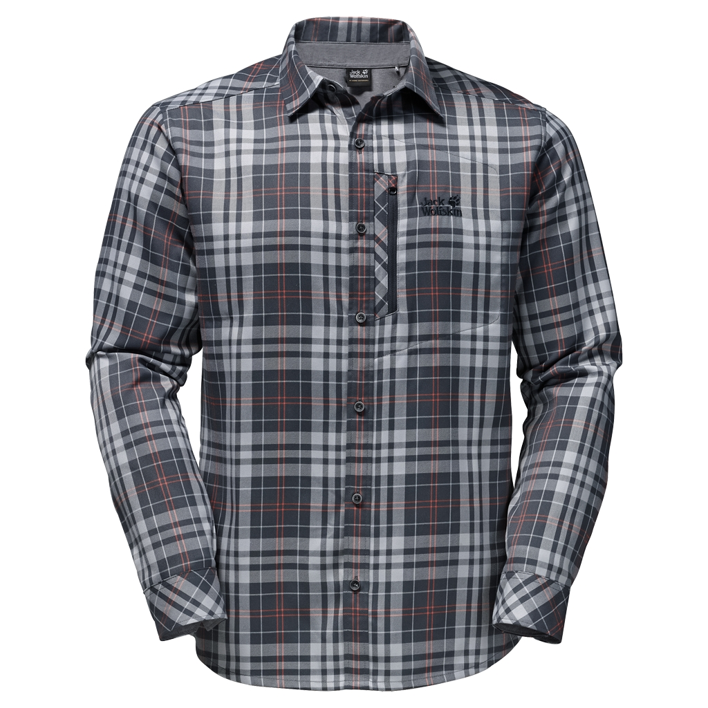 Jack Wolfskin Churchill Shirt ebony checks-30