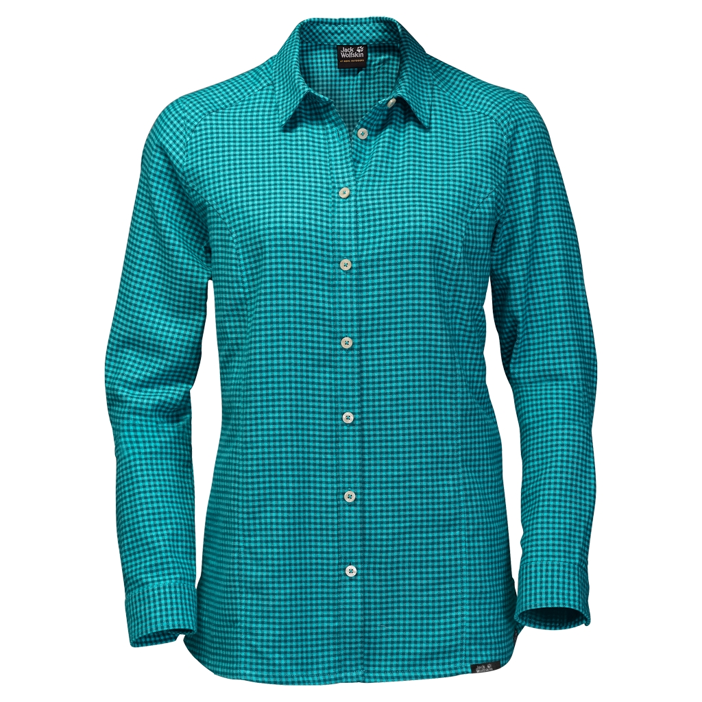 Jack Wolfskin Shore Line Shirt icy water checks-30