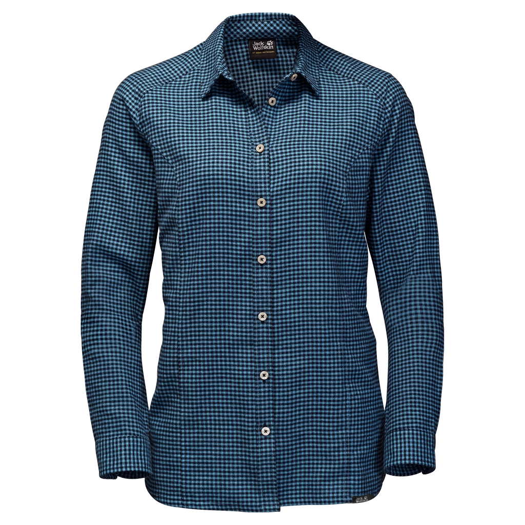 Jack Wolfskin Shore Line Shirt night blue checks-30