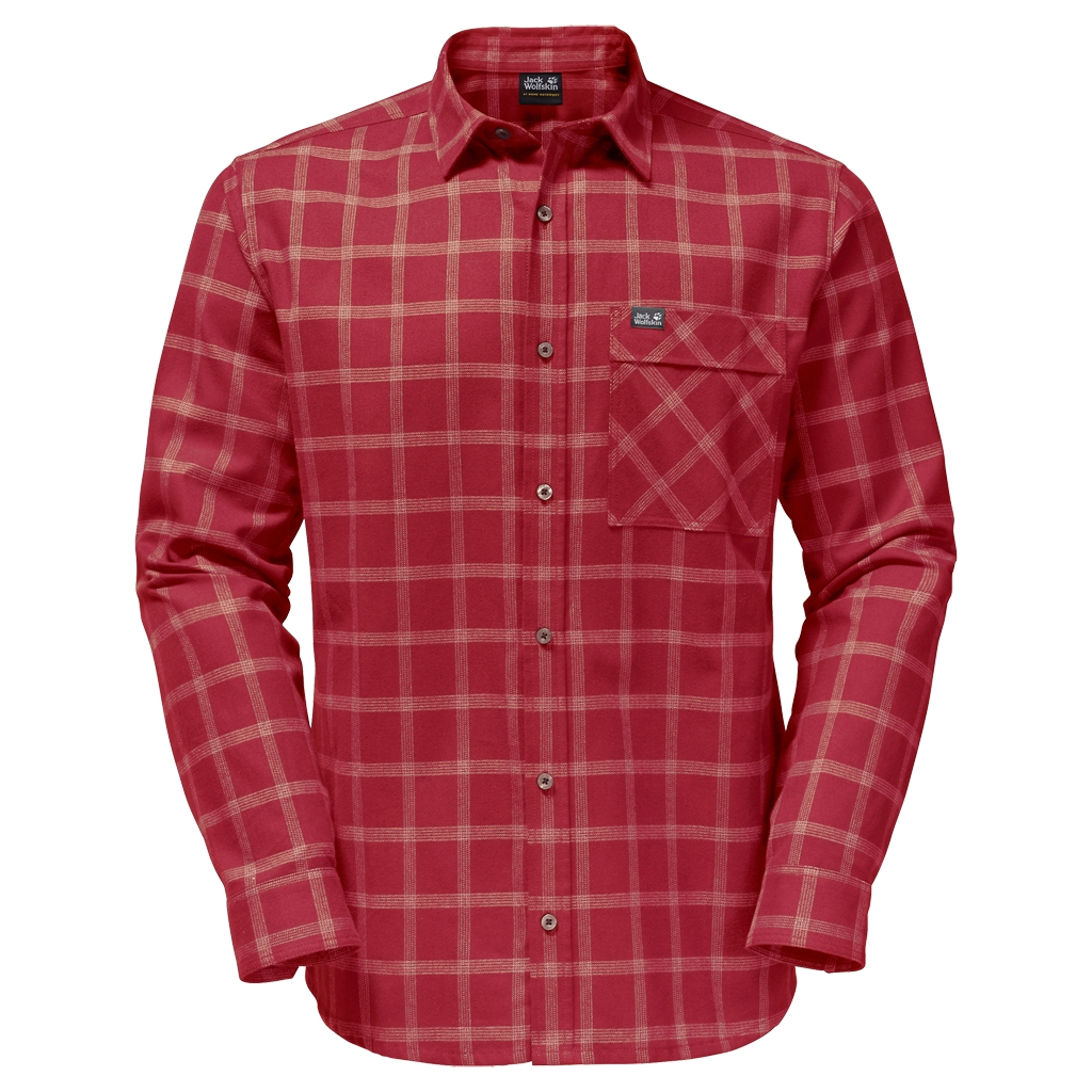 Jack Wolfskin Glacier Shirt indian red checks-30