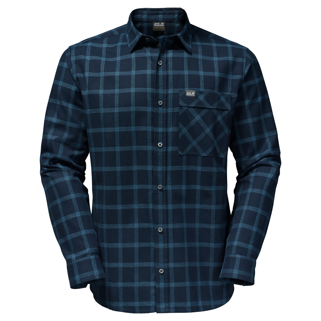 Jack Wolfskin Glacier Shirt night blue checks-30