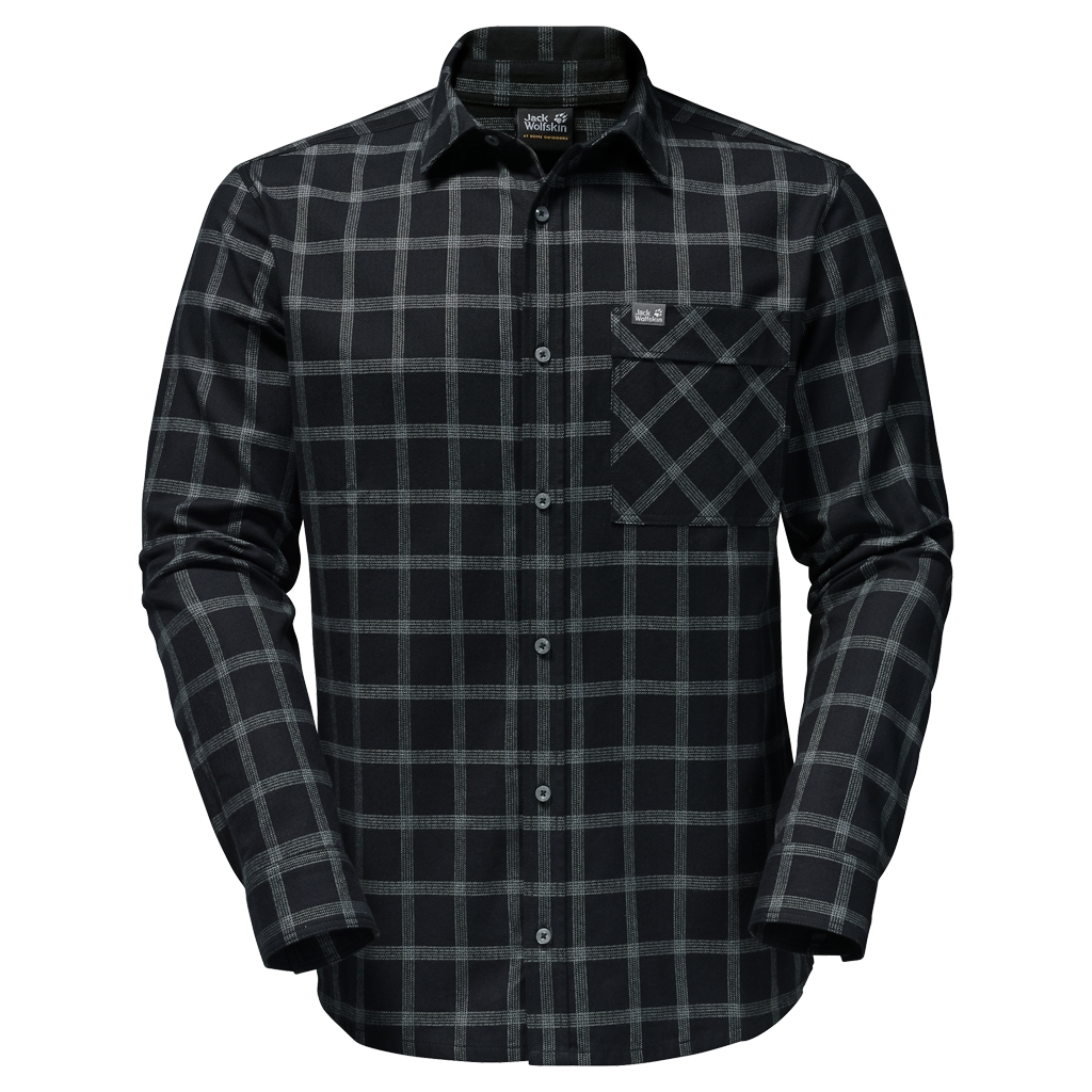 Jack Wolfskin Glacier Shirt black checks-30
