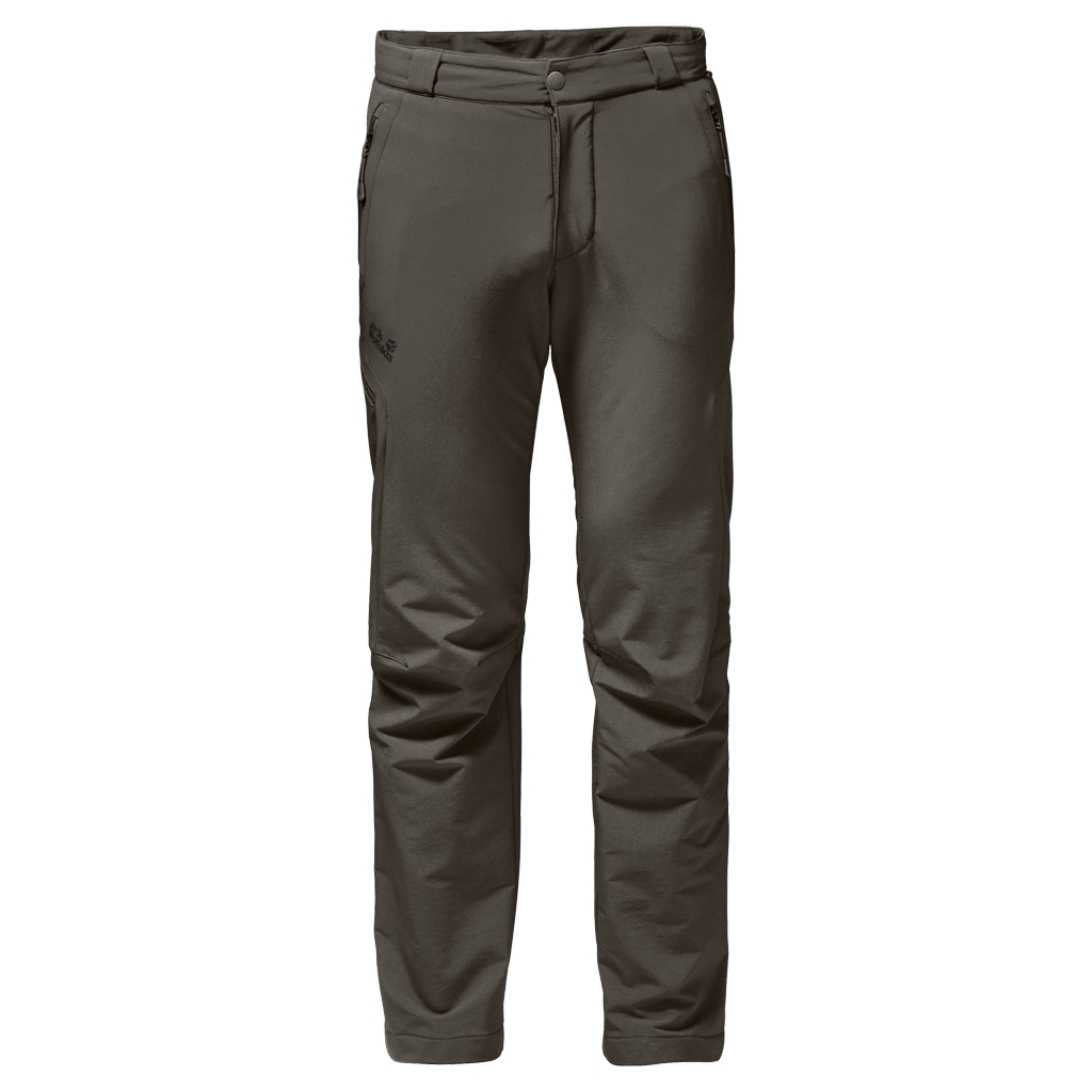 Jack Wolfskin Activate Thermic Pants Men olive brown-30