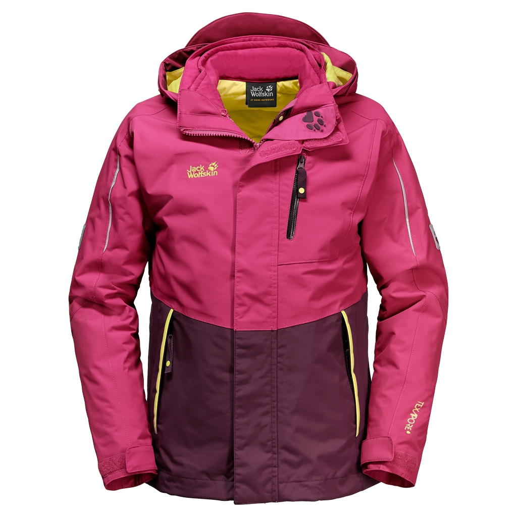 Jack Wolfskin Crosswind 3In1 Kids azalea red-30