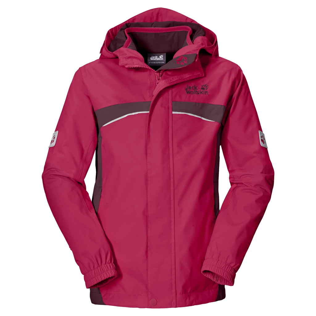 Jack Wolfskin Topaz 3In1 Girls azalea red-30