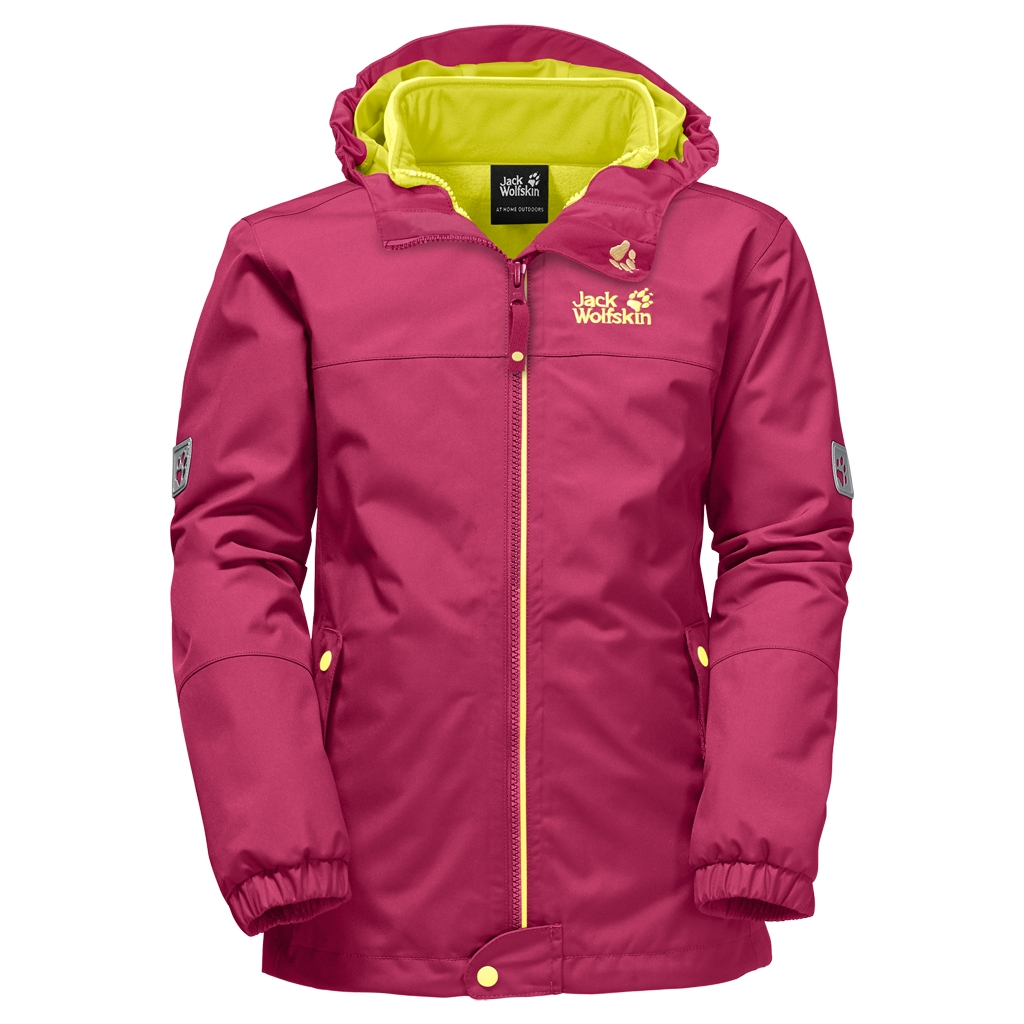 Jack Wolfskin Iceland 3In1 Girls azalea red-30