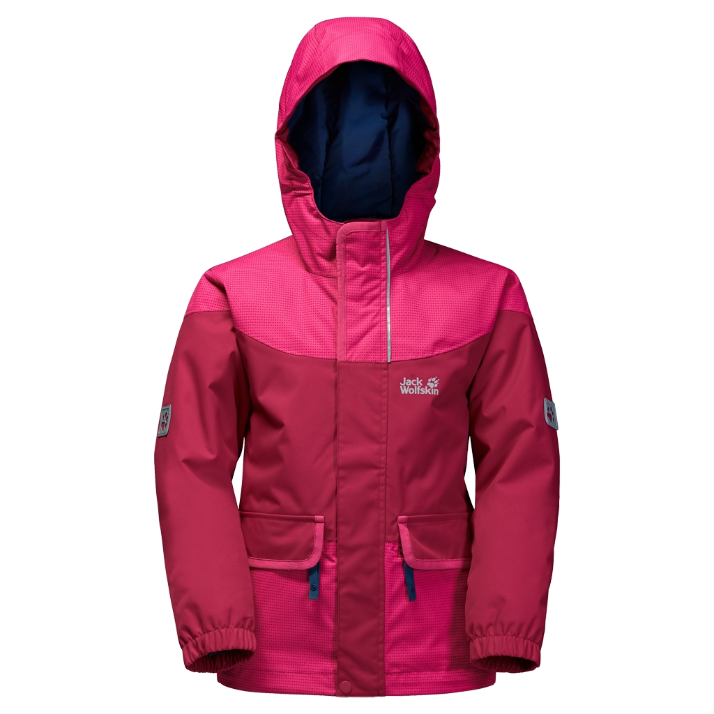 Jack Wolfskin Glacier Bay Jacket Girls azalea red-30