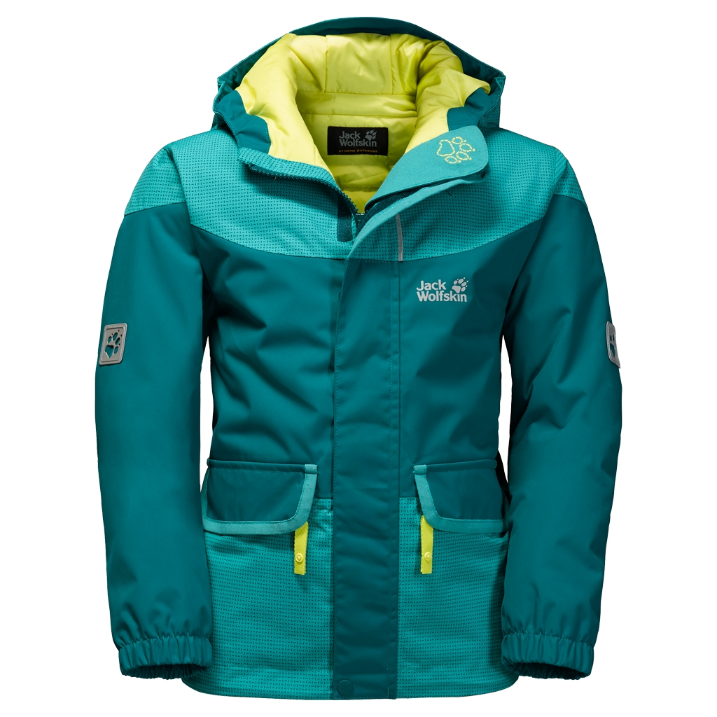 Jack Wolfskin Glacier Bay Jacket Girls dark spruce-30