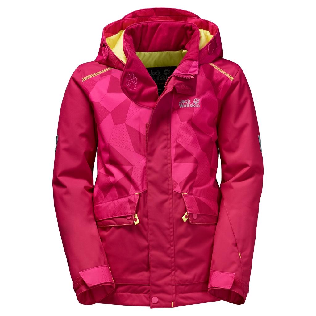 Jack Wolfskin Snow Ride Jacket Kids azalea red-30