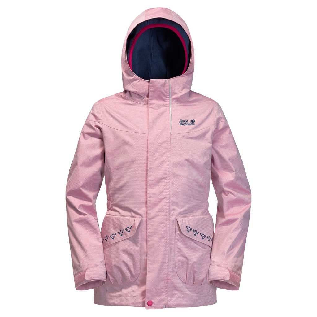 Jack Wolfskin Snowy Trail Girls azalea red-30