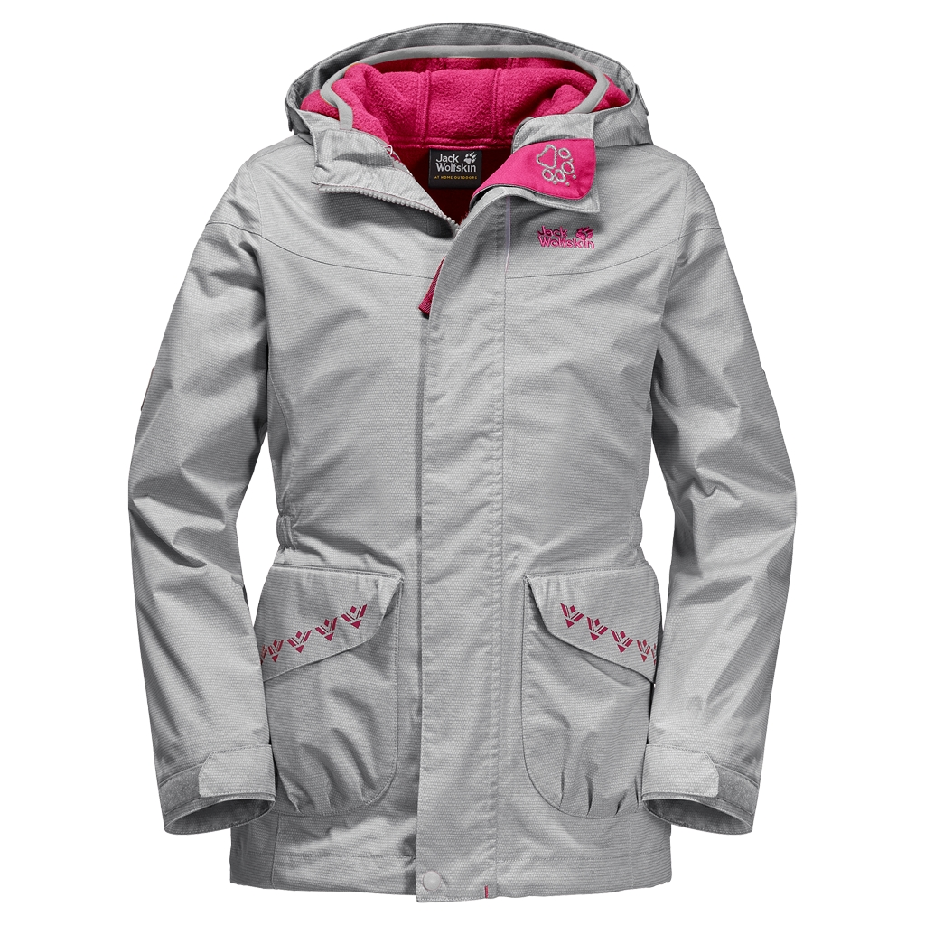 Jack Wolfskin Snowy Trail Girls grey heather-30