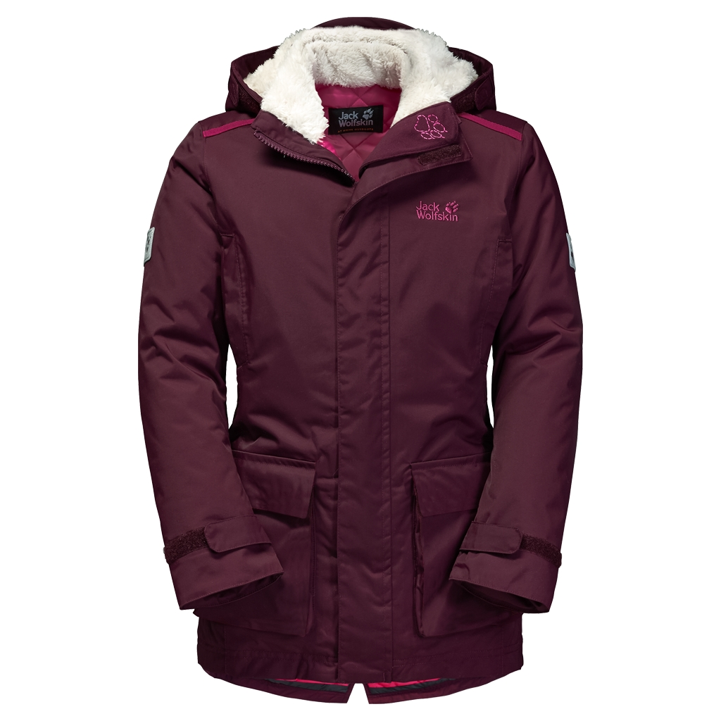 Jack Wolfskin Polar Bear Parka Girls dark berry-30