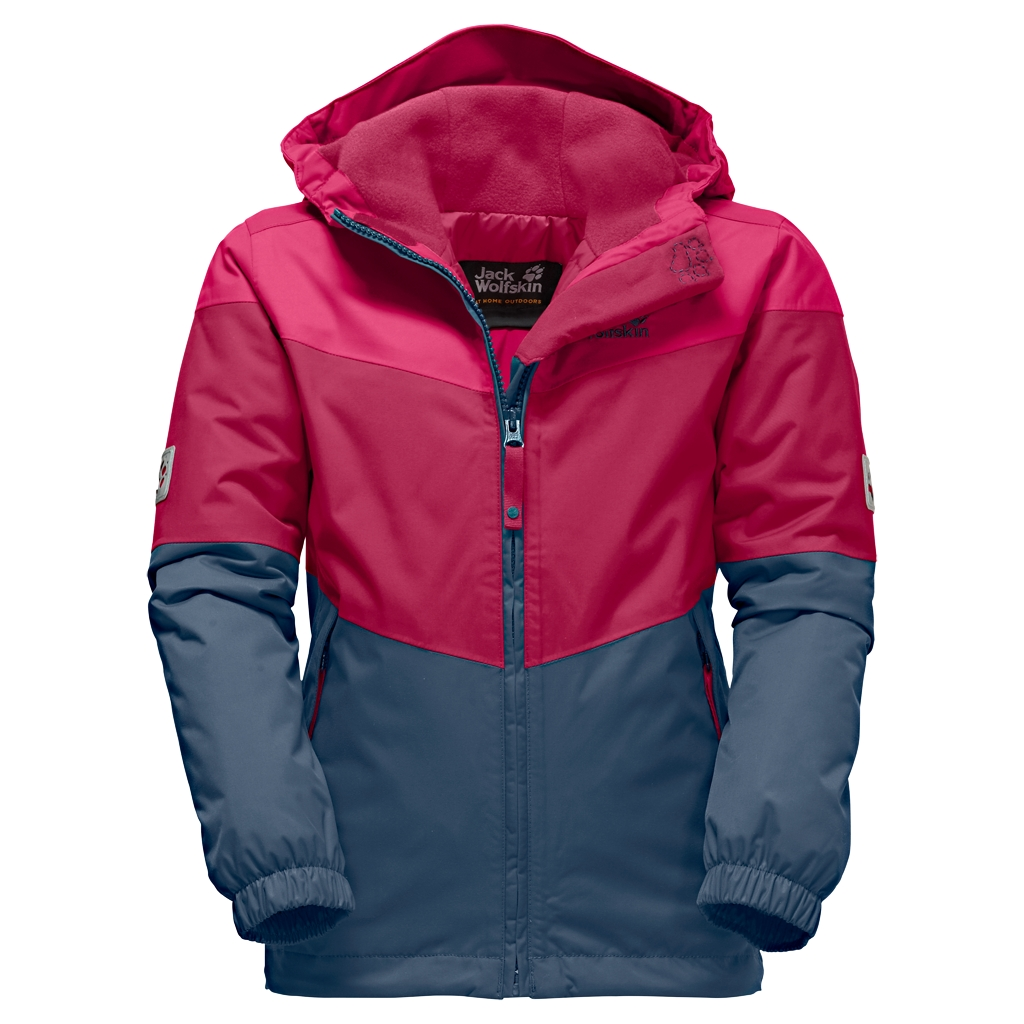 Jack Wolfskin Penguin Island Jacket Kids azalea red-30