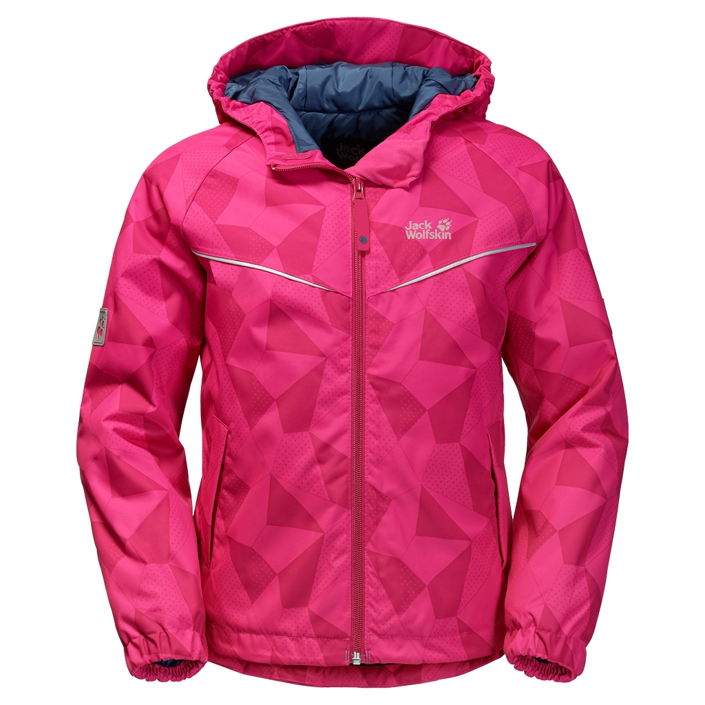 Jack Wolfskin Floating Ice Jacket Kids pink raspberry-30