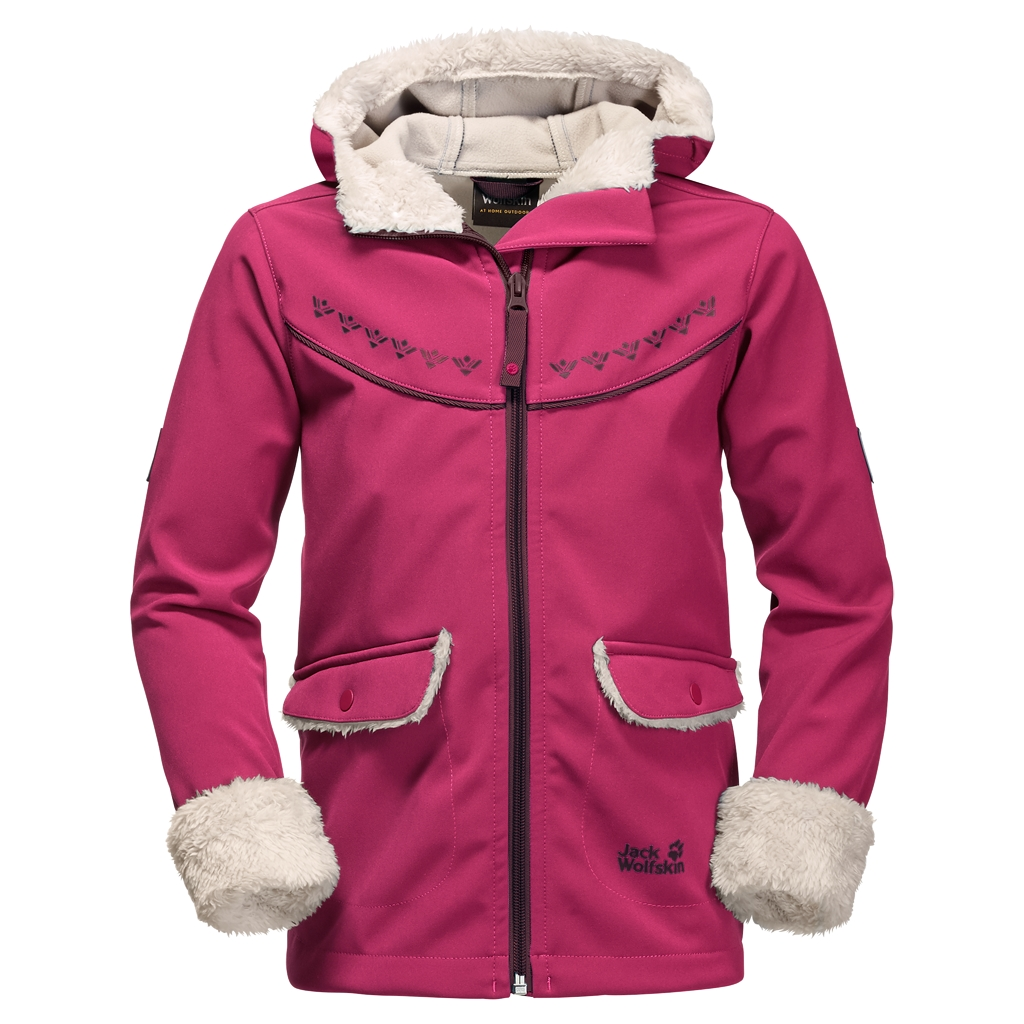 Jack Wolfskin Cold Breeze Jacket Girls azalea red-30