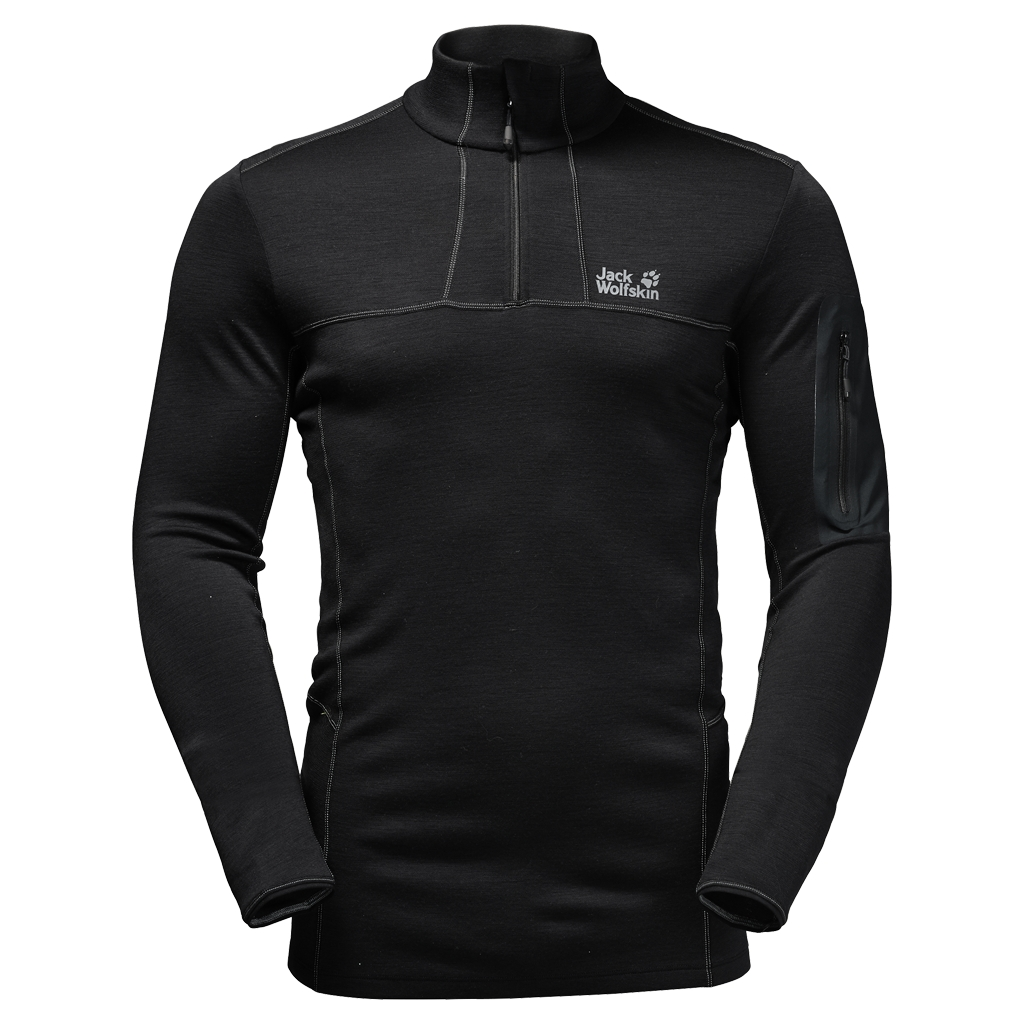 Jack Wolfskin Arctic Half Zip Men black-30