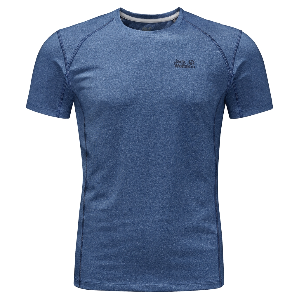 Jack Wolfskin Silver Sky T-Shirt Men deep sea blue-30