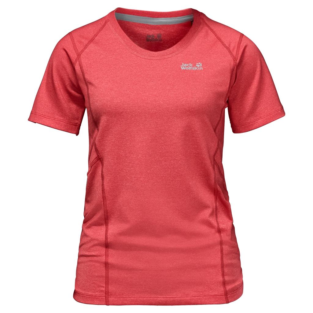 Jack Wolfskin Silver Sky T-Shirt Women hibiscus red-30