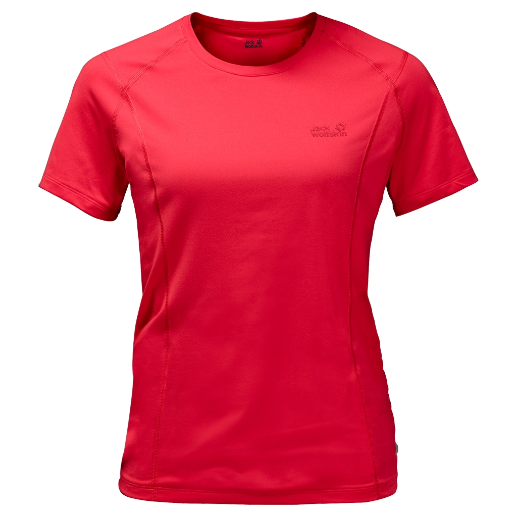 Jack Wolfskin Hollow Range T-Shirt Women hibiscus red-30