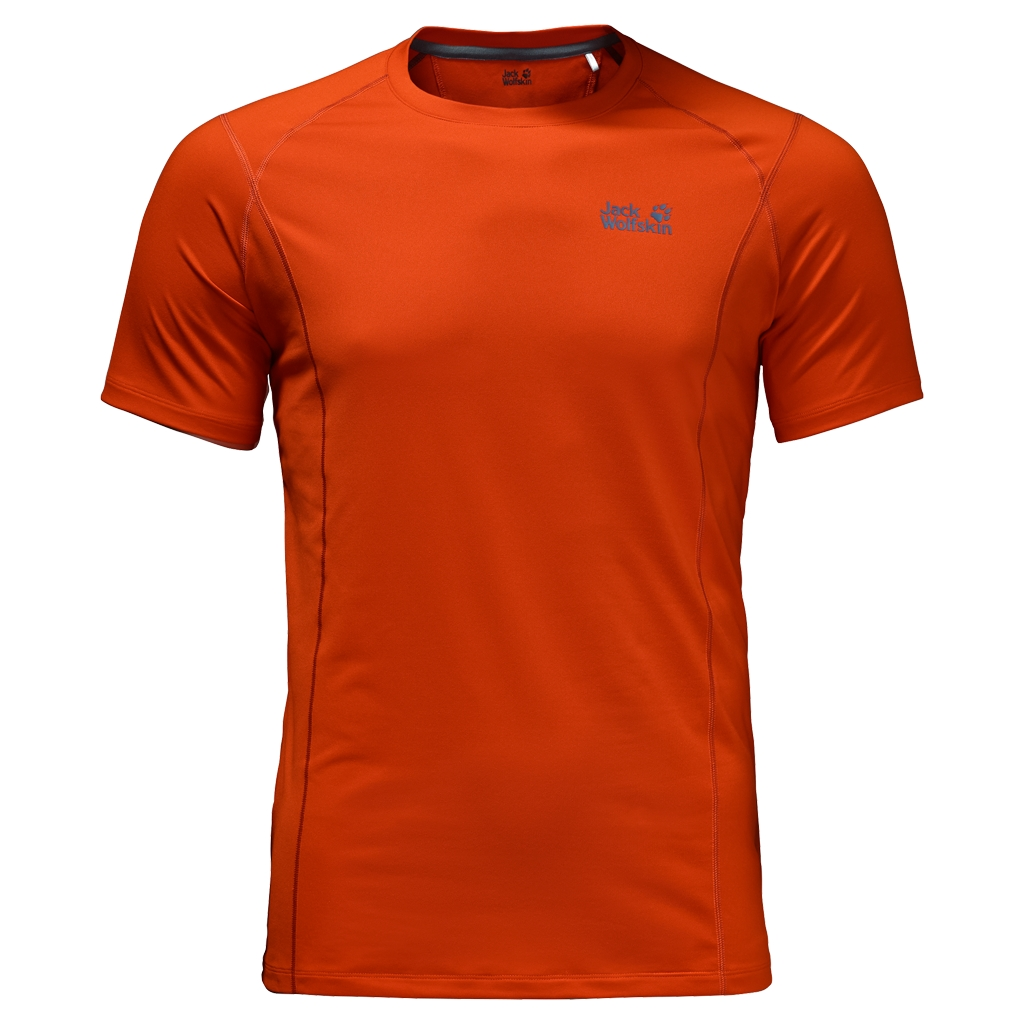 Jack Wolfskin Hollow Range T-Shirt Men dark satsuma-30