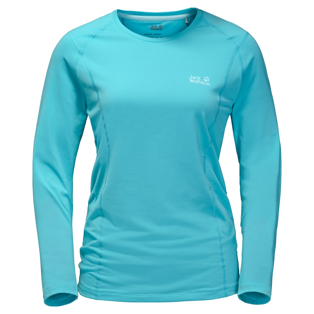 Jack Wolfskin Hollow Range Longsleeve Women icy water-30
