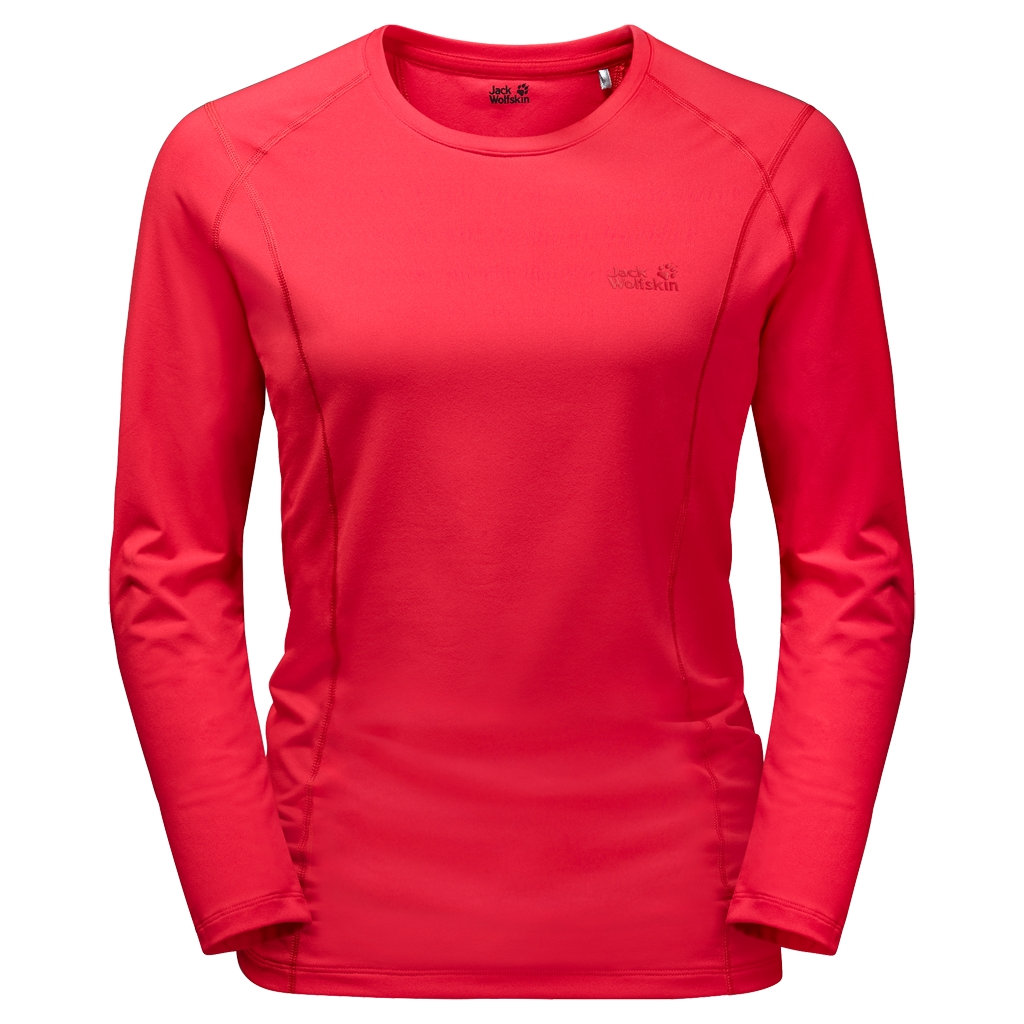 Jack Wolfskin Hollow Range Longsleeve Women hibiscus red-30