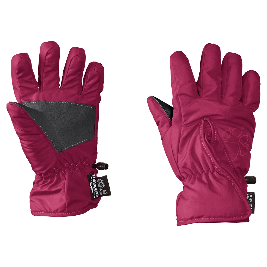 Jack Wolfskin Easy Entry Glove Kids azalea red-30
