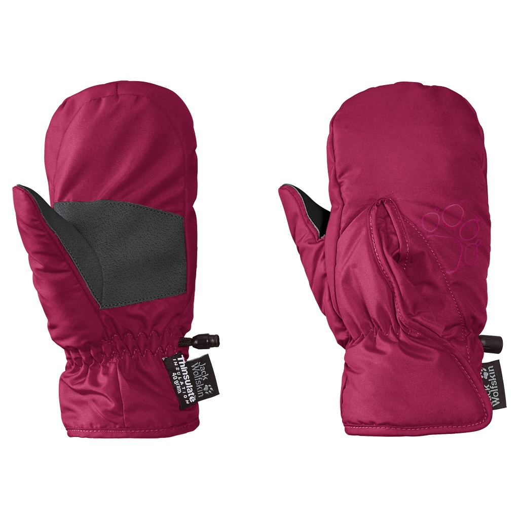 Jack Wolfskin Easy Entry Mitten Kids azalea red-30